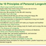 Longevity Video Blog#4-About the 10 Principles of Personal Longevity