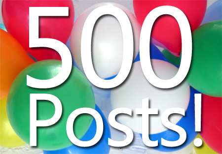 Thanks to our Readers ! We have grown to over 500 Longevity Posts !