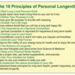 An Essay on the 10 Principles of Personal Longevity